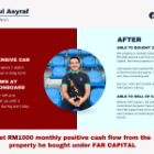 Get RM1000 monthly positive cash flow from the property he bought under FAR CAPITAL – Amirul Asyraf